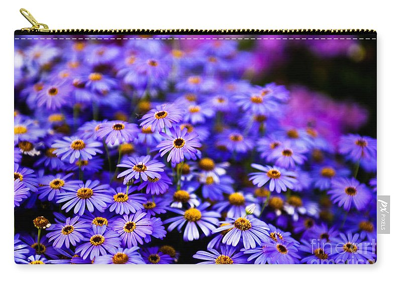 Flower Carry-all Pouch featuring the photograph A Chain Reaction by Syed Aqueel