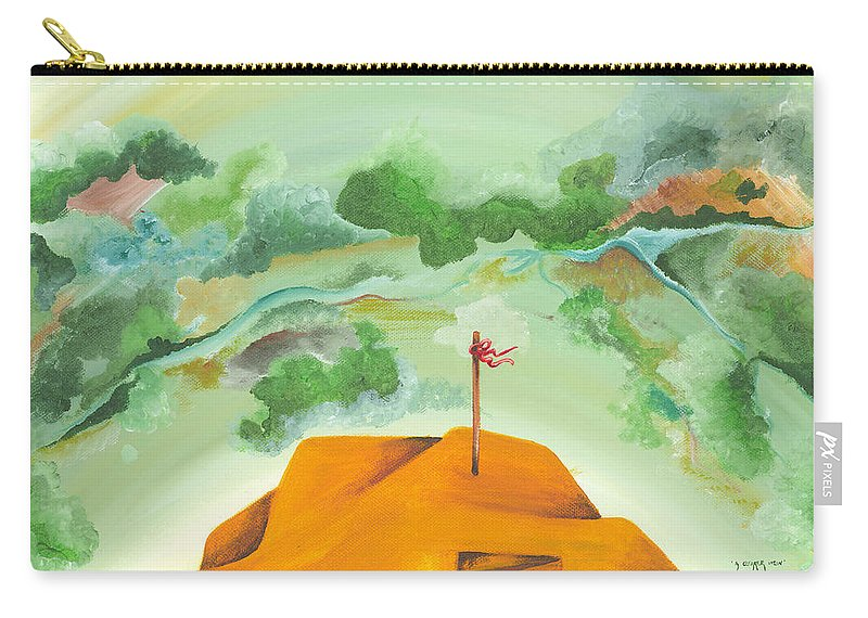 Landscape Carry-all Pouch featuring the painting A Clearer View by Catt Kyriacou