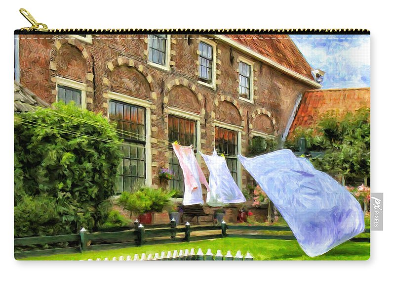 English Manor House Carry-all Pouch featuring the painting A Day In The Life by Dominic Piperata