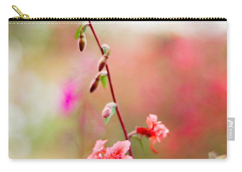 Flower Carry-all Pouch featuring the photograph A Delicate Rise by Syed Aqueel