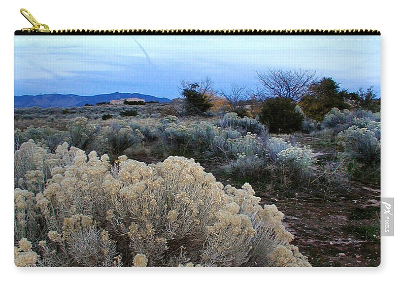 Santa Fe Carry-all Pouch featuring the photograph A Desert View After Sunset by Kathleen Grace