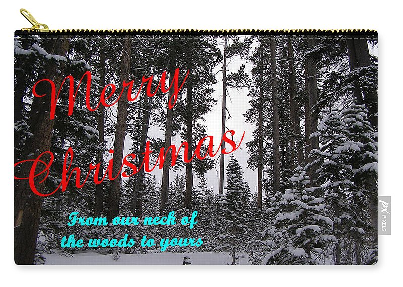 Christmas Carry-all Pouch featuring the photograph A Forest Christmas by DeeLon Merritt