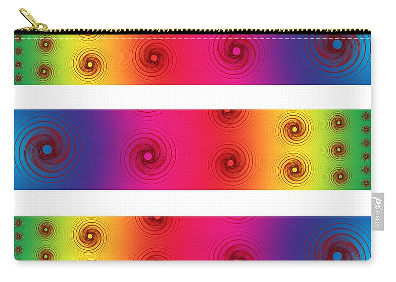 Color Carry-all Pouch featuring the digital art A Fractal Spectrum by Betsy Knapp