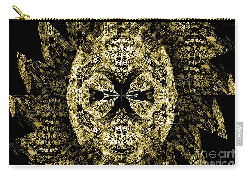 Gothic Carry-all Pouch featuring the digital art A Gothic Guise Of Gold by Maria Urso