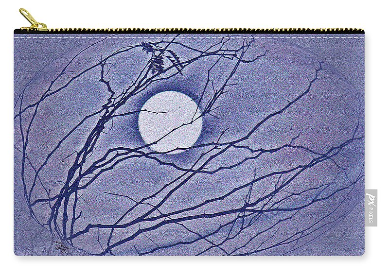 Abstract Carry-all Pouch featuring the photograph A Las Vegas January Full Moon by Carl Deaville