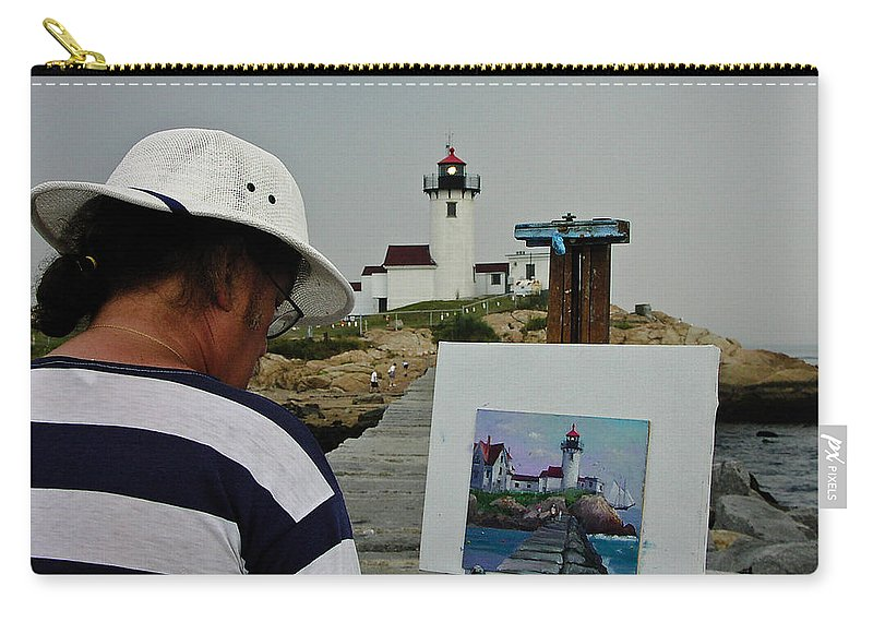 Artist Carry-all Pouch featuring the photograph A Light Artist by Mike Martin