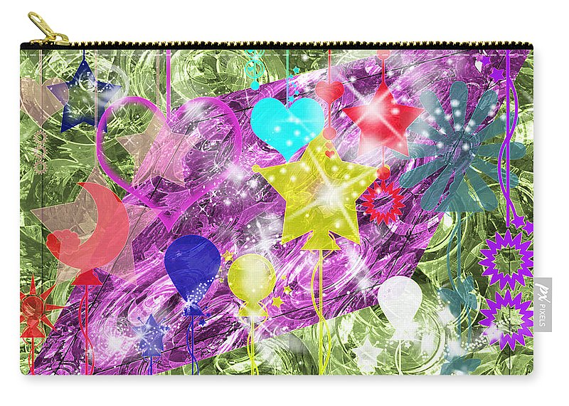 Digitalart Carry-all Pouch featuring the digital art A Little Fun by Debbie Portwood