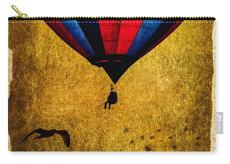Vintage Carry-all Pouch featuring the photograph A Man And His Balloon by Bob Orsillo