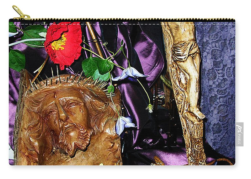 Jesus Carry-all Pouch featuring the photograph A Man Of His Word 2 by Anthony Wilkening