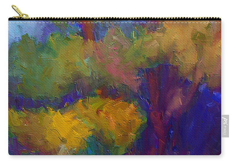 Mediterraneo Carry-all Pouch featuring the painting A Mediterranian Morning by Dragica Micki Fortuna