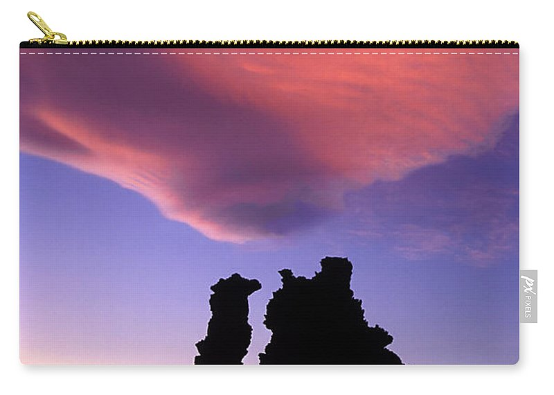 Mono Lake Carry-all Pouch featuring the photograph A Mono Lake Sunset by Dave Mills