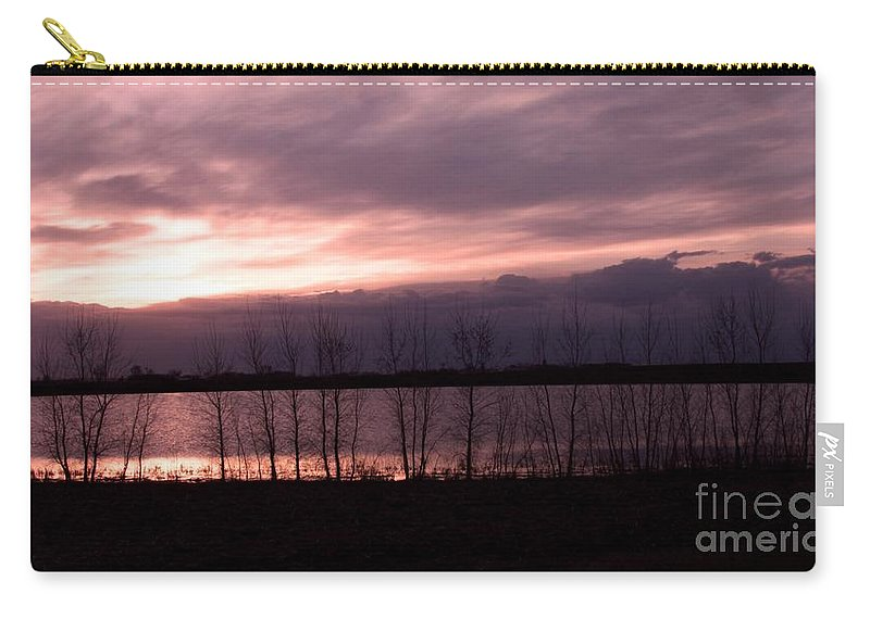 Sunset Carry-all Pouch featuring the photograph A Night Of Pink by Lori Tordsen