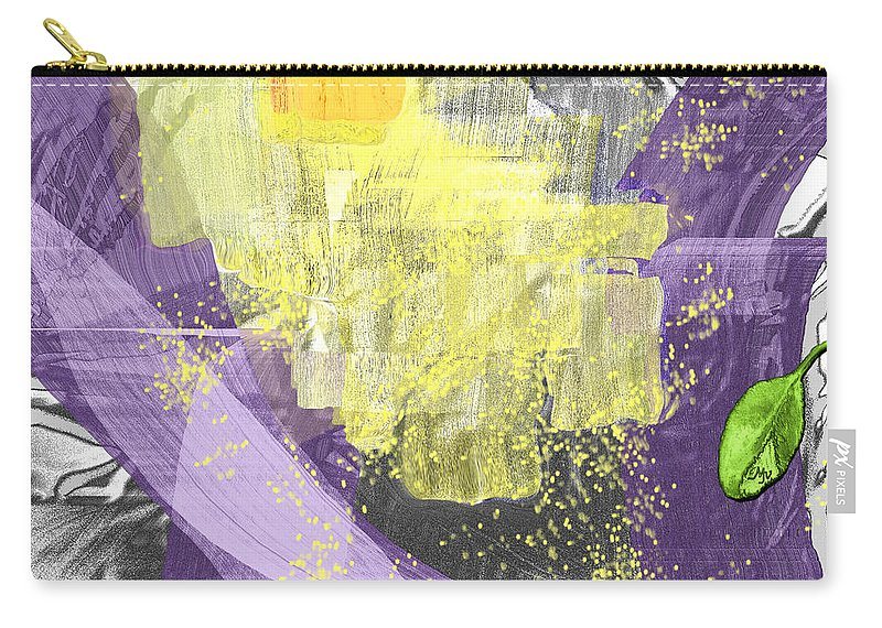 Abstract Carry-all Pouch featuring the digital art A Patch Of Sunlight by Mathilde Vhargon