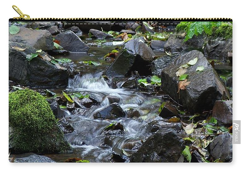 A Peaceful Stream Carry-all Pouch featuring the photograph A Peaceful Stream by Chalet Roome-Rigdon