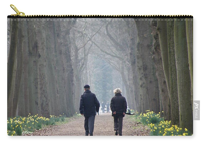 Forest Carry-all Pouch featuring the photograph A Peaceful Stroll by Lainie Wrightson