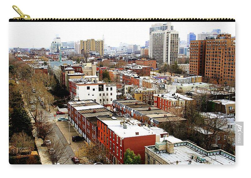 Scenic City Philadelphia Philadelphian Buildings Fairmount Park Carry-all Pouch featuring the photograph A Philadelphian View by Alice Gipson