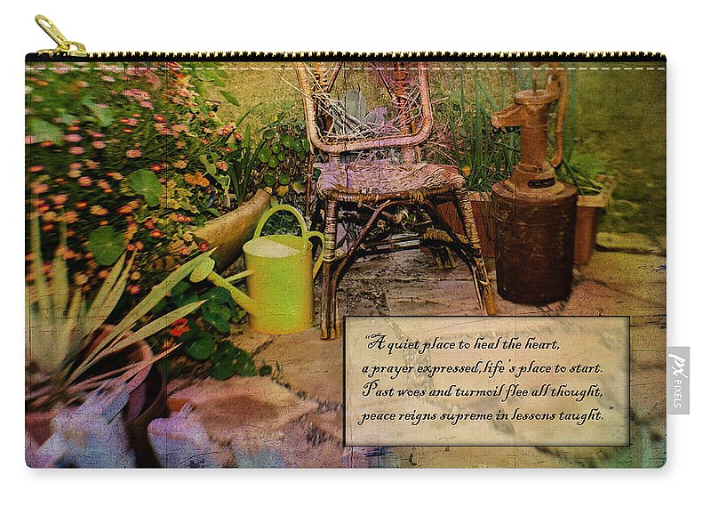 Flower Photography Carry-all Pouch featuring the photograph A Prayer Expressed by La Rae Roberts