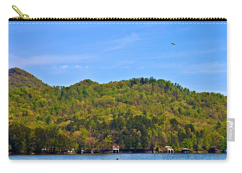 Lake Carry-all Pouch featuring the photograph A Quiet Day by Susan Leggett