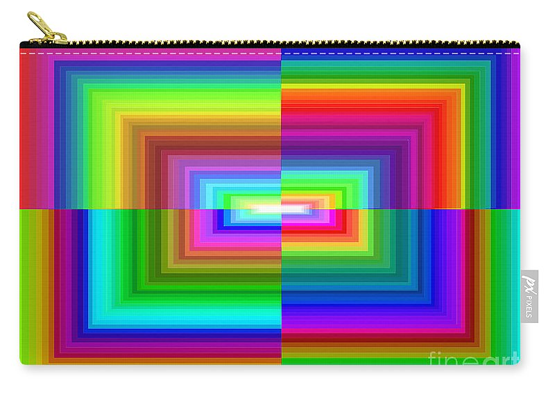 Rainbow Carry-all Pouch featuring the digital art A Rainbow Is A Rainbow Is A Rainbow by Debbie Portwood