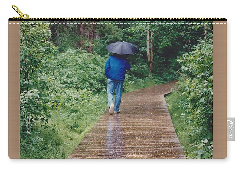 Best Of Show Carry-all Pouch featuring the photograph A Rainey Day In Alaska by Phyllis Kaltenbach