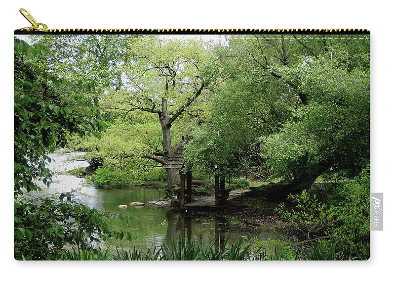 Central Park Carry-all Pouch featuring the photograph A River Runs Through Central Park by Lorraine Devon Wilke