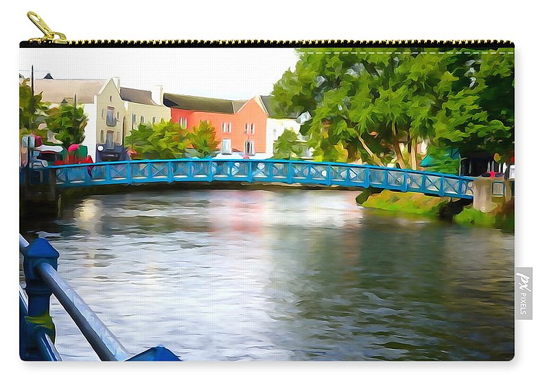 Bridge Carry-all Pouch featuring the photograph A River Runs Through It by Charlie and Norma Brock
