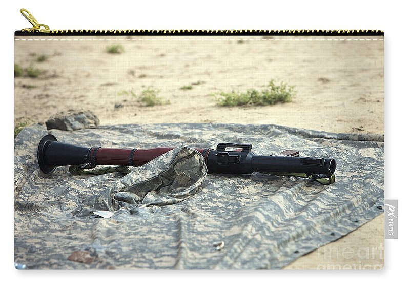Kunduz Carry-all Pouch featuring the photograph A Rocket-propelled Grenade Launcher by Terry Moore