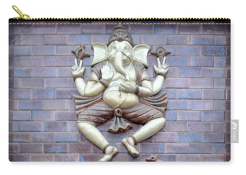 God Carry-all Pouch featuring the photograph A Sculpture Of The Hindu God Ganesha by Ashish Agarwal