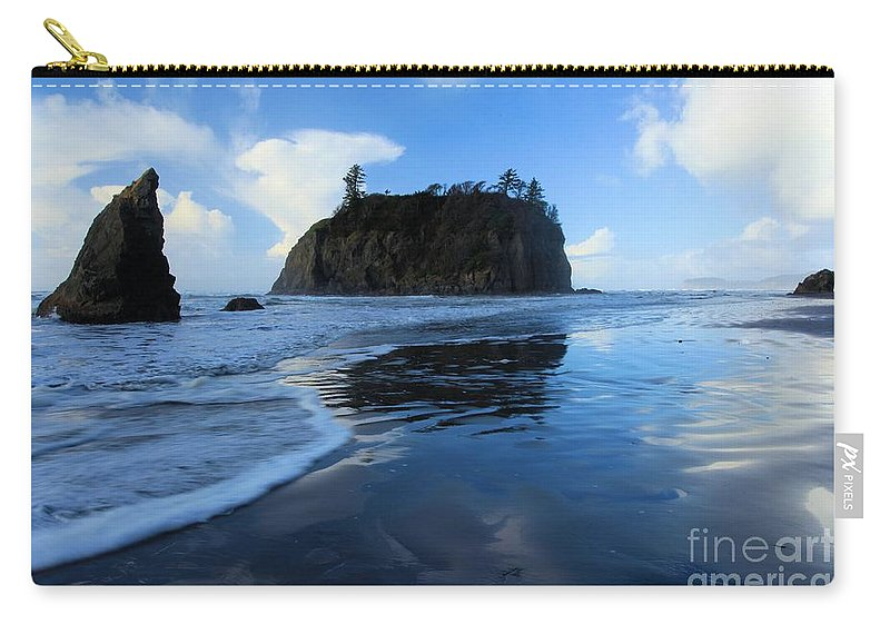Ruby Beach Carry-all Pouch featuring the photograph A Sea Of Blue by Adam Jewell