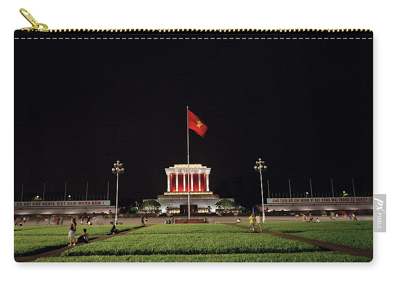 Asia Carry-all Pouch featuring the photograph A Serene Ho Chi Minh Mausoleum by Shaun Higson