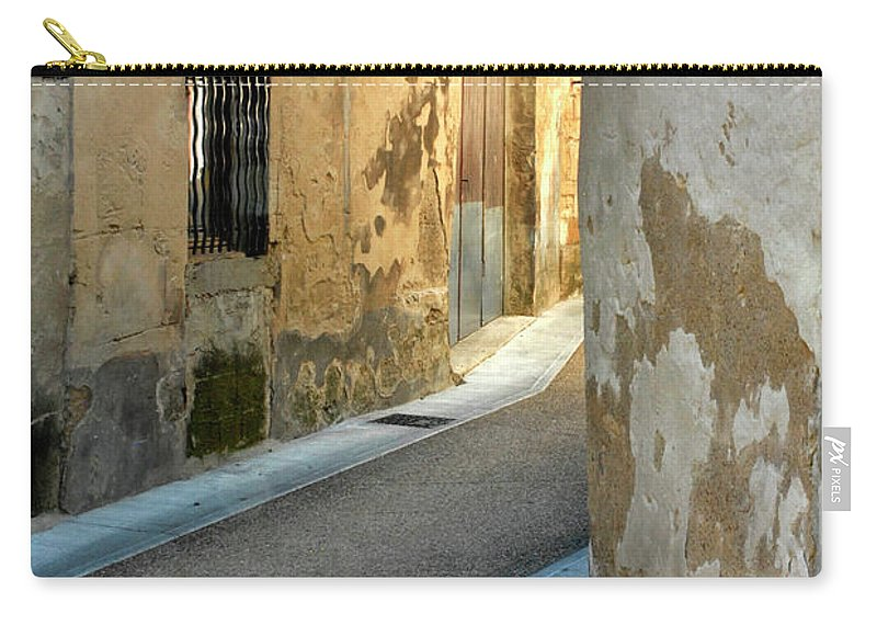 Cat Carry-all Pouch featuring the photograph A Sidestreet In Provence by Dave Mills