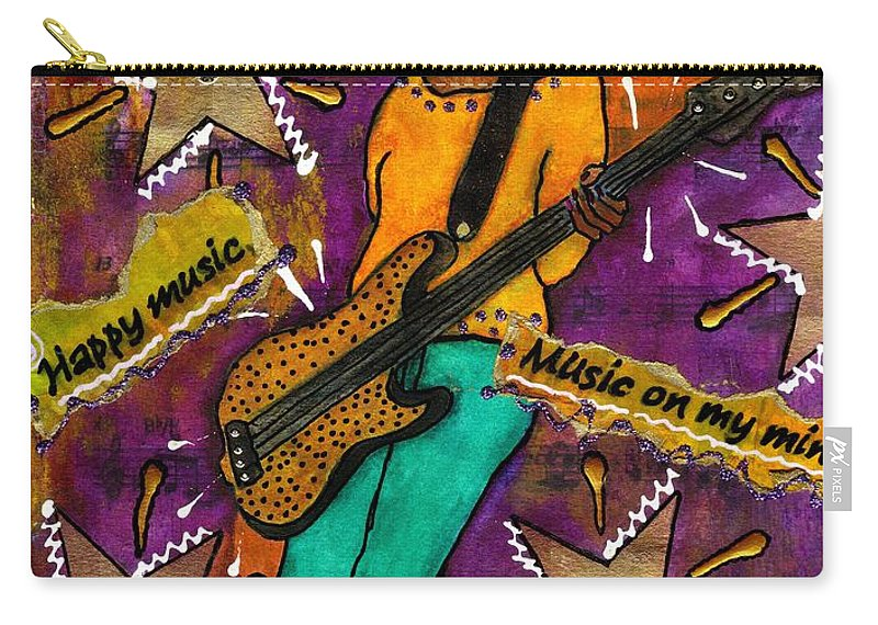 Woman Carry-all Pouch featuring the mixed media A Student Of The Jam by Angela L Walker