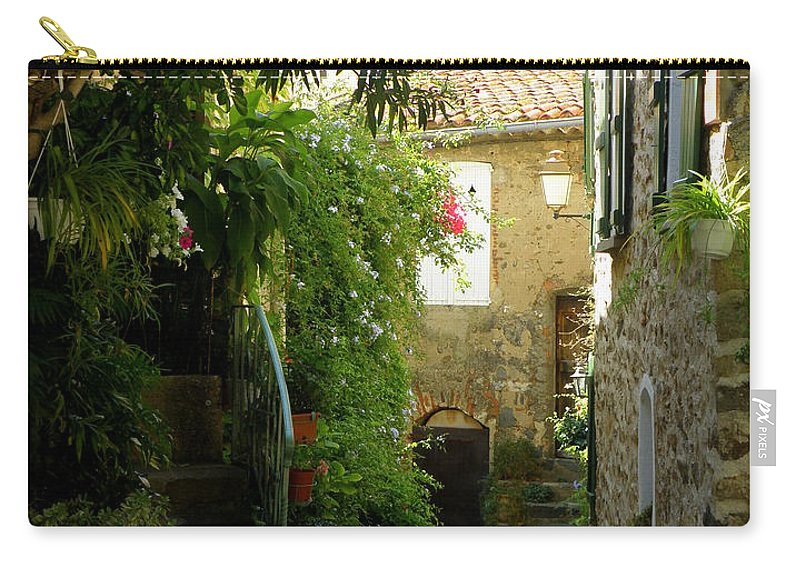 Provence Carry-all Pouch featuring the photograph A Sweet Little Street by Lainie Wrightson