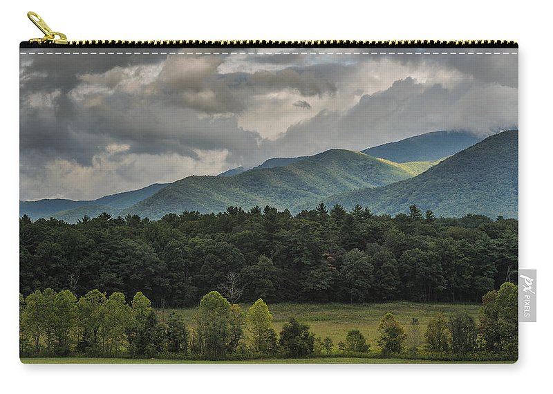 Cades Cove Carry-all Pouch featuring the photograph A Touch Of Sunshine by Charlie Choc