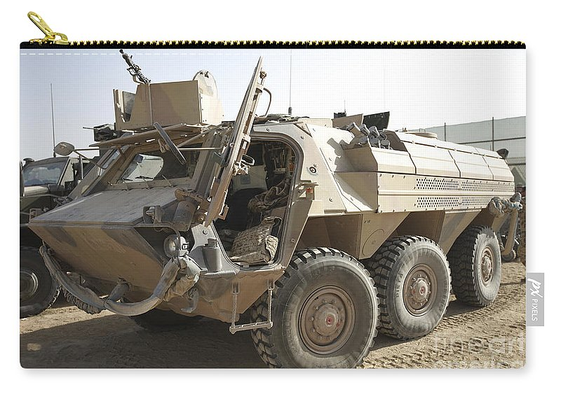 Isaf Carry-all Pouch featuring the photograph A Tpz Fuchs Armored Personnel Carrier by Terry Moore