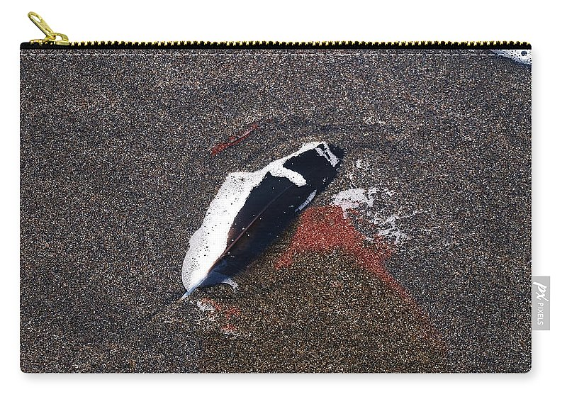 Feather Carry-all Pouch featuring the photograph A Treasure Left Behind by Teri Schuster