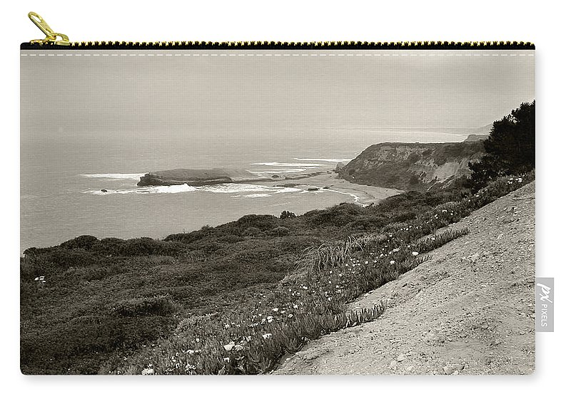 Coastal Carry-all Pouch featuring the photograph A View Central California Coast by Kathleen Grace