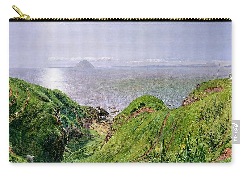 Xyc118510 Carry-all Pouch featuring the photograph A View Of Ailsa Craig And The Isle Of Arran by William Bell Scott
