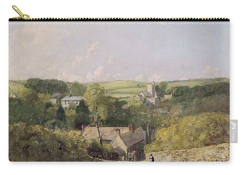 Xyc158030 Carry-all Pouch featuring the photograph A View Of Osmington Village With The Church And Vicarage by John Constable