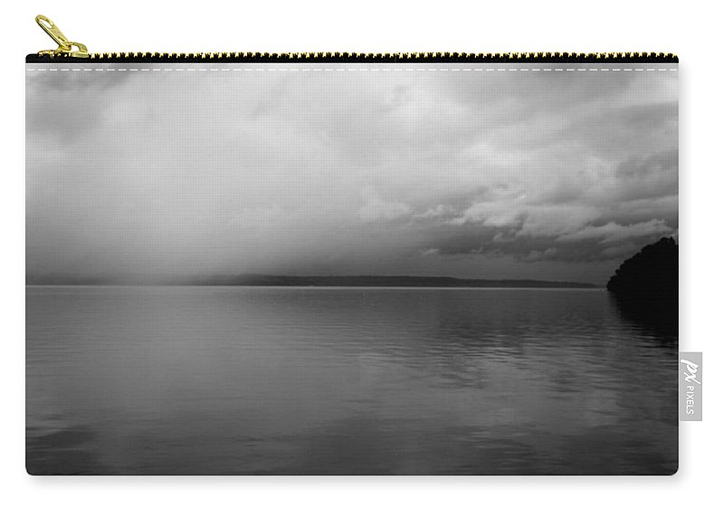 Lake Carry-all Pouch featuring the photograph A View South Sound II by Kathleen Grace
