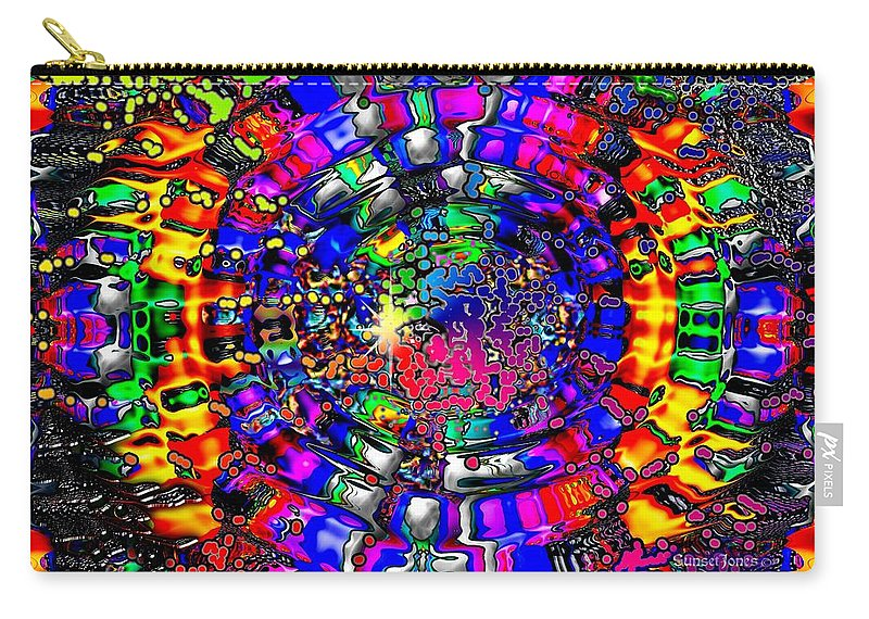 Colorful Carry-all Pouch featuring the digital art A Visionary's Dream by Robert Orinski