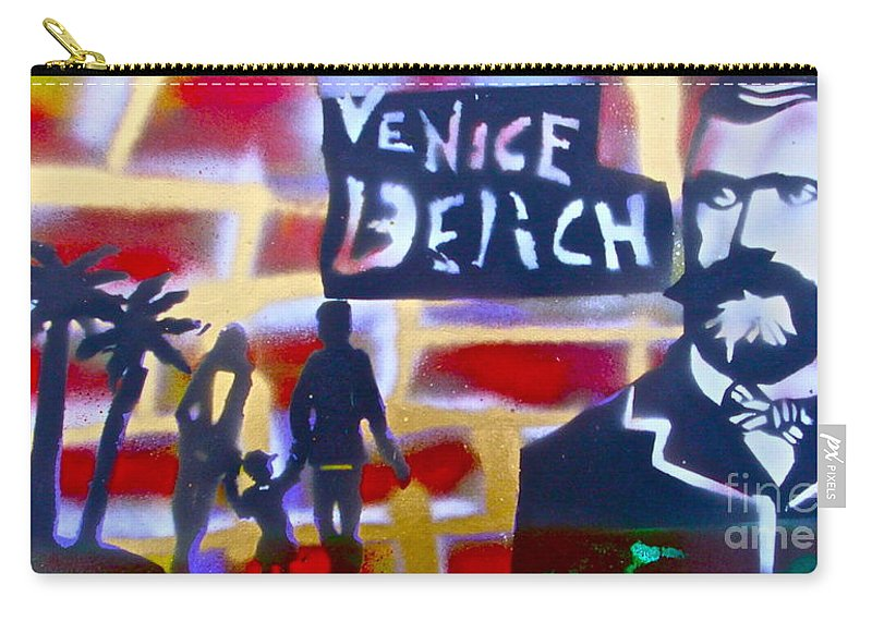 Abbott Kinney Ocean Carry-all Pouch featuring the painting Abbott Kinney 2 by Tony B Conscious