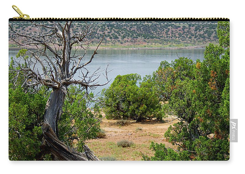 Photograph Carry-all Pouch featuring the photograph Abiquiu Lake New Mexico 2 by Vicki Pelham