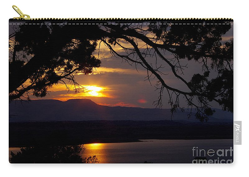 Carry-all Pouch featuring the photograph Abiquiu Sunset by Vicki Pelham