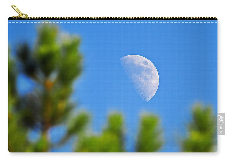 Moon Carry-all Pouch featuring the photograph Above The Pines by Al Powell Photography USA