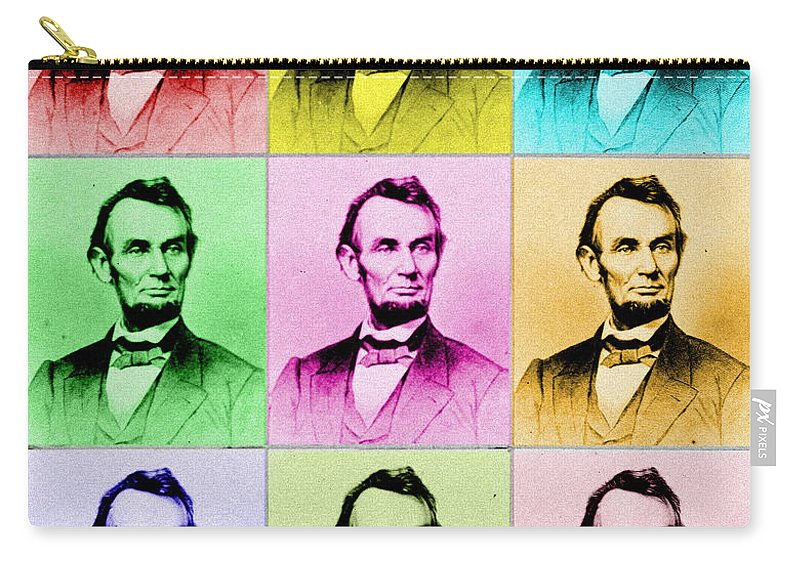 Abe Lincoln Carry-all Pouch featuring the photograph Abraham Lincoln by Andrew Fare