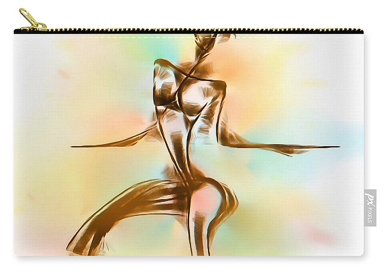 Graphics Carry-all Pouch featuring the digital art Abs 0099 by Marek Lutek