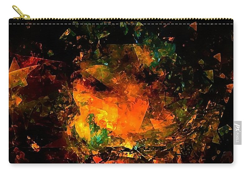 Graphics Carry-all Pouch featuring the digital art Abs 0353 by Marek Lutek