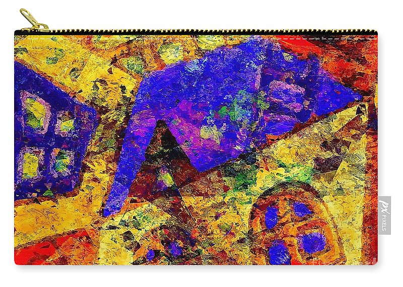 Graphics Carry-all Pouch featuring the digital art Abs 0435 by Marek Lutek