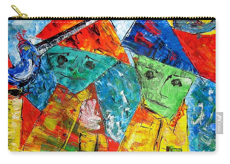 Graphics Carry-all Pouch featuring the painting Abs 0439 by Marek Lutek